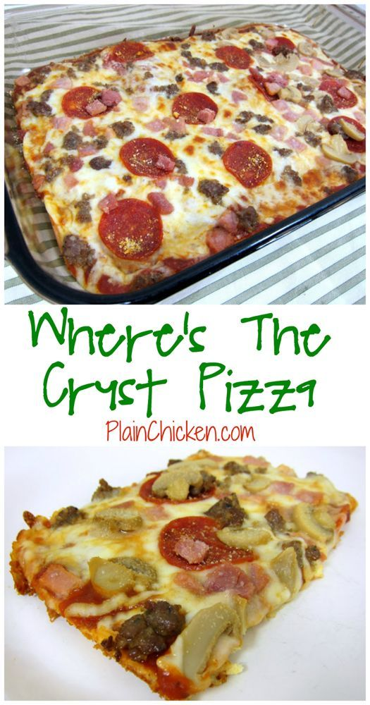 Where's The Crust Pizza | Plain Chicken®   – All things yummmmm – #Chicken …