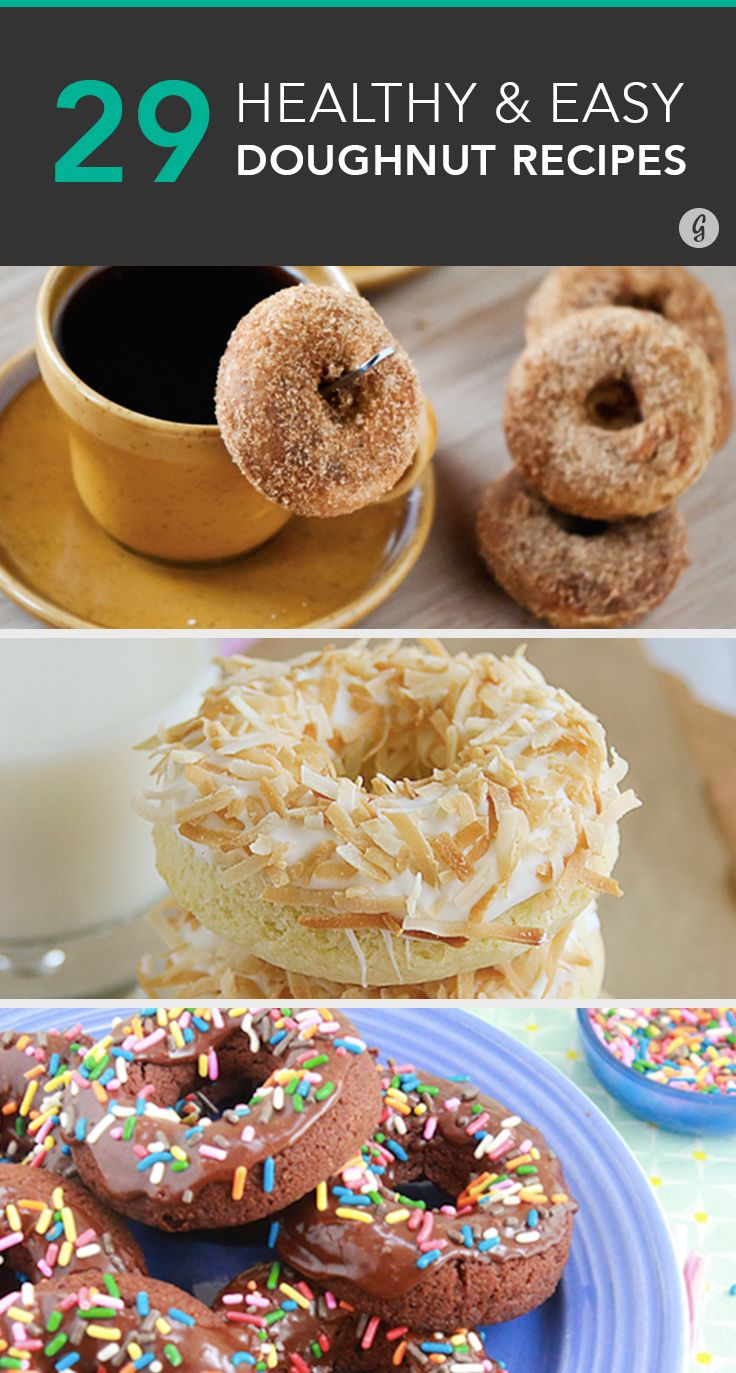 The best excuse to eat cake for breakfast. #healthy #doughnuts #recipes