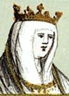 Catherine of Lancaster (1373 - 1418). Princess of Asturias from 1388 to 1390. She was married to Enrique III and had three children.