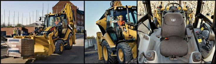 This is a photo collection of a Cat Backhoe, heavy machinery available new and used at Machines4u
