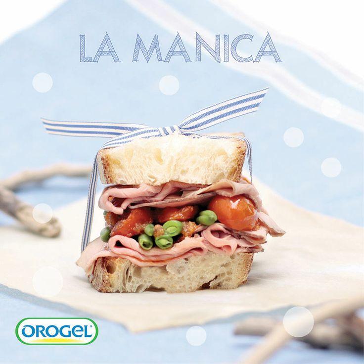Pane di Altamura farcito con roast beef, #fagiolini e pomodorini