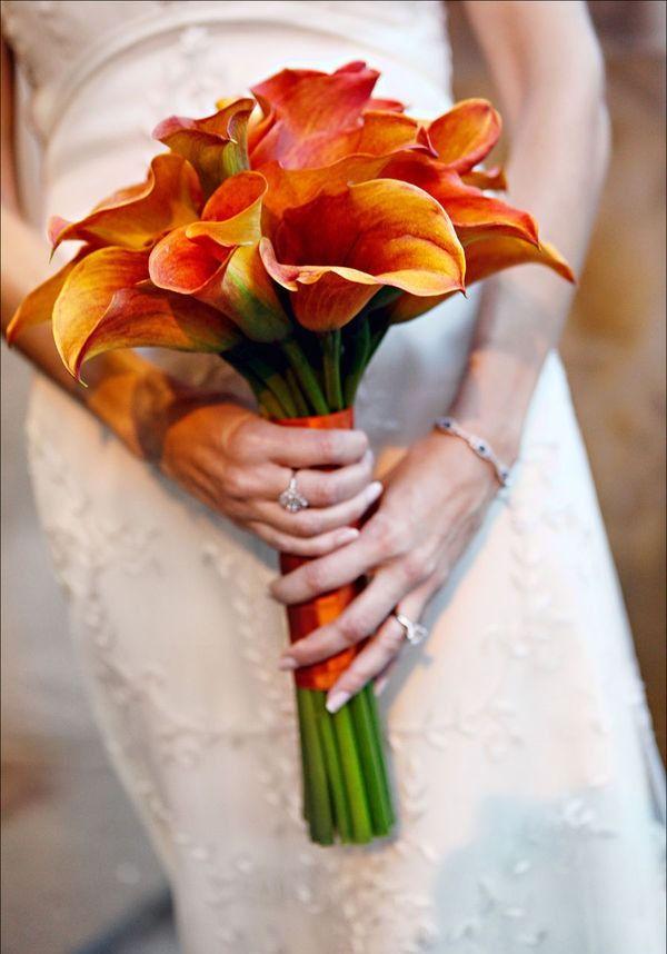 Букет невесты осень каллы, букеты
