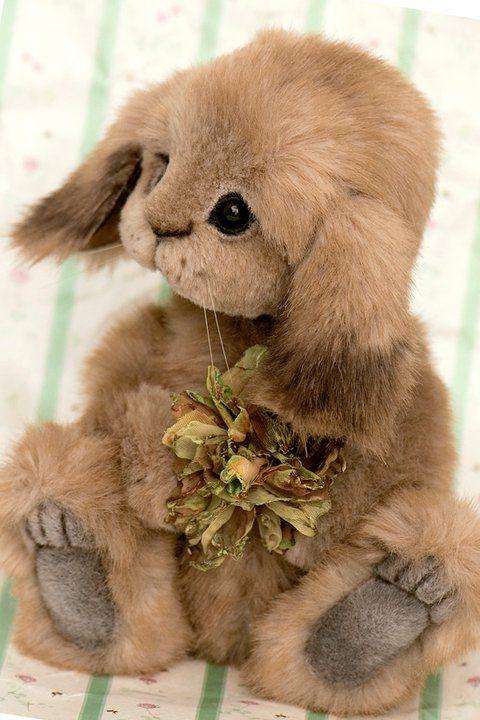 """""""Lettice"""" the Bunny by Jenny at Three O'Clock Bears / http://threeoclockbears.typepad.com/my_weblog/2011/01/look-who-won-a-toby-nomination.html"""