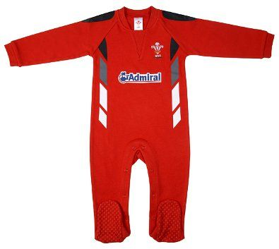 Wales WRU Rugby Sleepsuit - This gorgeous babygrow is super soft, perfect for baby WRU fans. £11.99 0-3 - 12-18 months