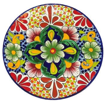 Round Talavera Plate-need to get some nice feature pieces-useful too.
