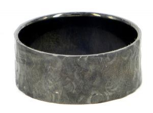 Spinless with circle pattern 10mm ring or wedding ring in sterling silver - $280