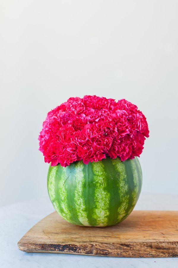 DIY watermelon centerpiece | Photo and tutorial by Cyd Converse