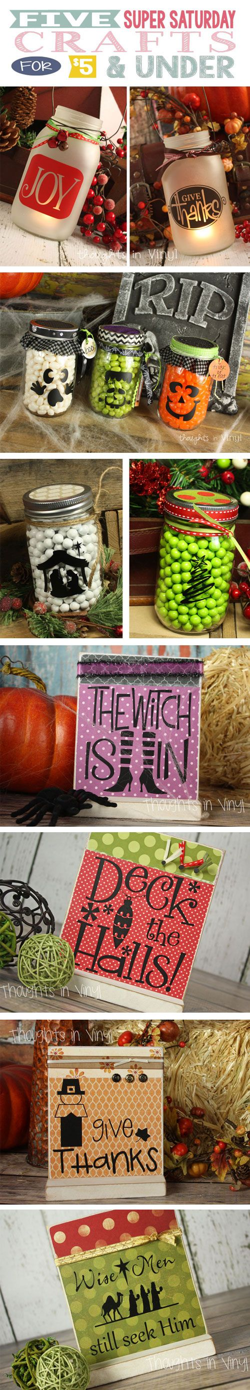 Adorable Super Saturday or Girls Night out crafts! Great for neighbor gifts too :)