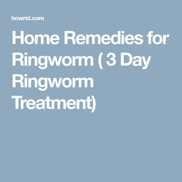 Home Remedies for Ringworm ( 3 Day Ringworm Treatment)
