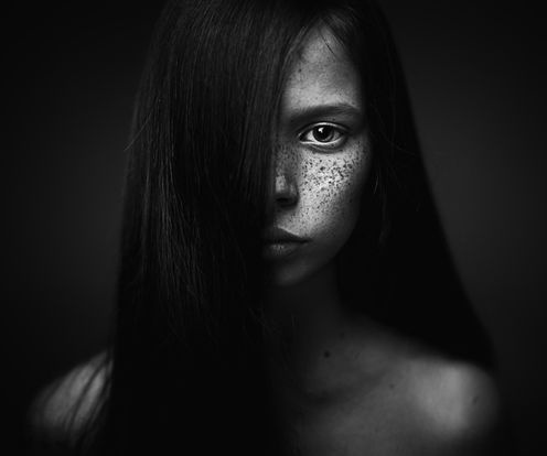 Black and White Photography Girl Portrait