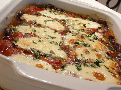 Mozzarellás padlizsán tál recept