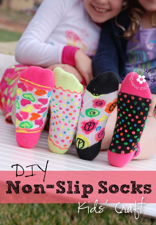 Diy Non Slip Socks Kids Craft Diy Ideas Pinterest Fun Crafts