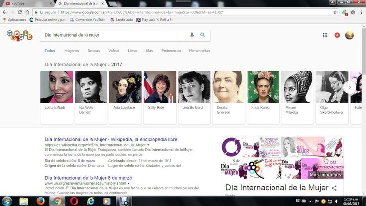 el logo. de google por el dia inrternacional de la mujer