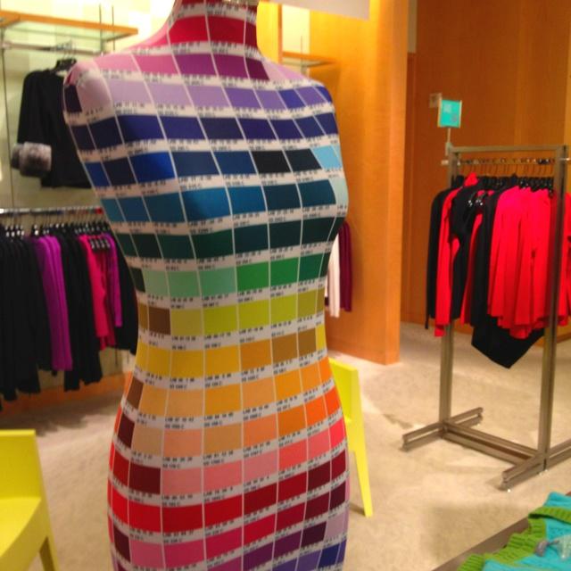 Pantone dress form at Neiman Marcus