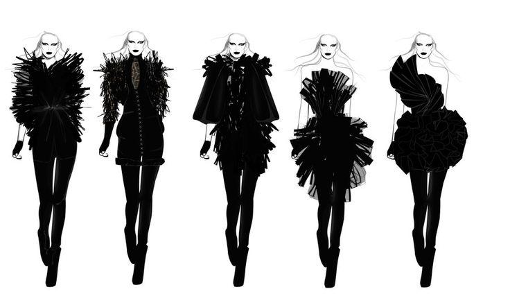 Fashion Portfolio - fashion design collection lineup; fashion illustration; fashion sketchbook // Will Ev