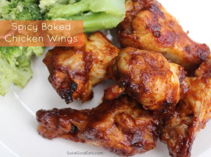 Spicy Baked Chicken Wings | Solid Gold Eats | Pinterest
