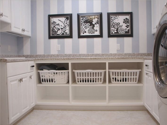Laundry Room Wall Art Ideas With 3 Black And White Framed