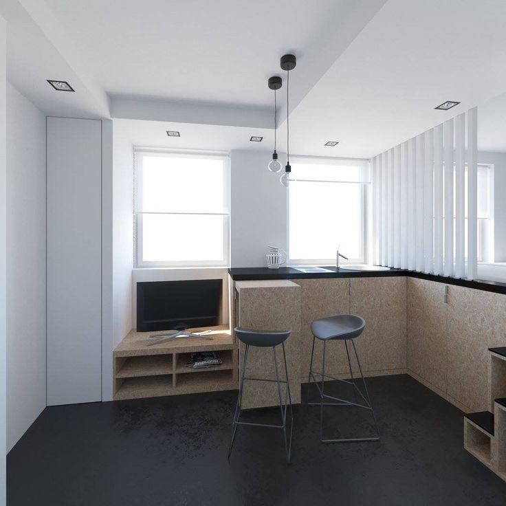 Petits Espaces A 40 Mètres Carrés 430 Pieds Carrés Visualisation De L'appartement