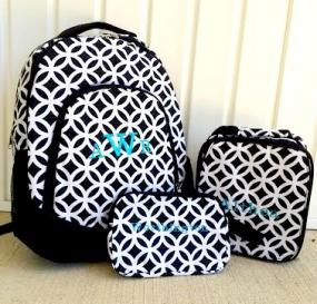 Set Of 3 Personalized Backpack, Lunch Box And Pencil Case  $28.05 - http://www.pinchingyourpennies.com/set-of-3-personalized-backpack-lunch-box-and-pencil-case-28-05/ #Backpack, #Backtoschool, #Lunchbox, #Monogrammed, #Teen, #Tween