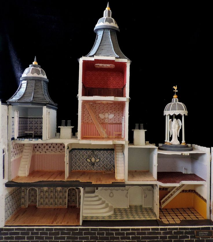 OOAK 1/12th Large Dolls House No Furniture Victorian / Edwardian 4 story Mansion in Dolls & Bears, Dolls' Miniatures & Houses, Dolls' Houses   eBay