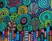 Heather Galler etsy.  So colorful, so many lines.  Whimsy at its best!