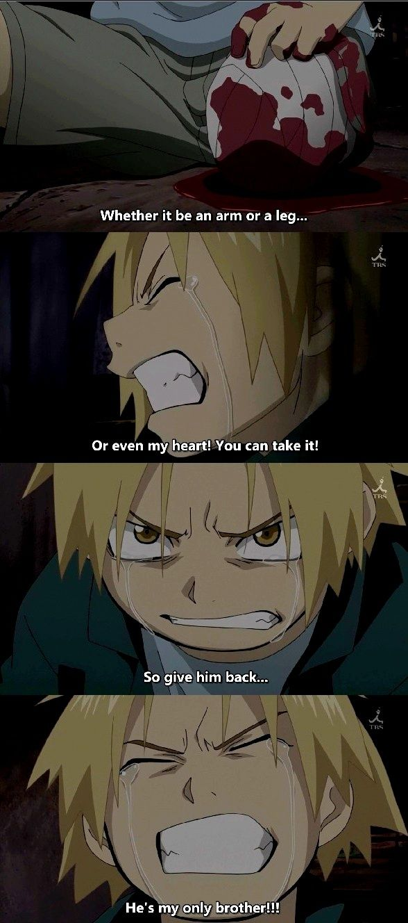 FullMetal Alchemist - So sad ;-; I watched that part and I didn't want Al to die. I LOVE ALPHONSE!!