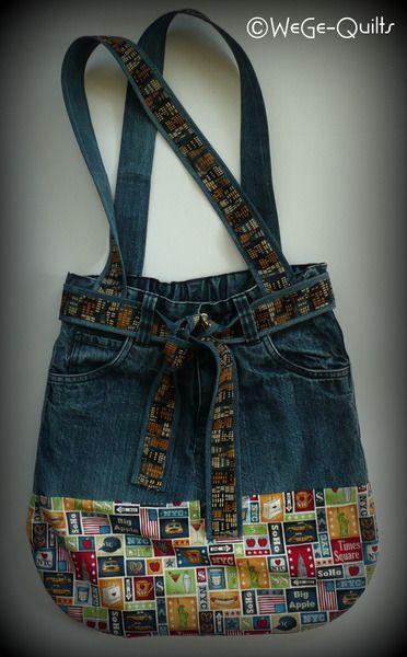 """FLUTHILFE """"AUS ALT MACH NEU"""" Tasche von WeGe-Quilts auf DaWanda.com"""