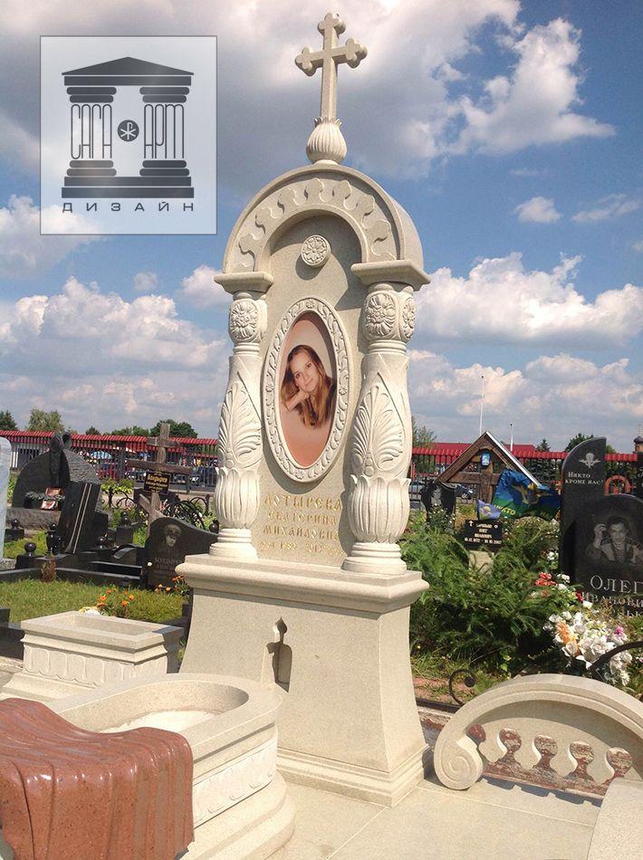 православные памятники, надгробные кресты, кресты памятники, элитные православные памятники заказать в гранитной мастерской Сага Арт Дизайн в Москве