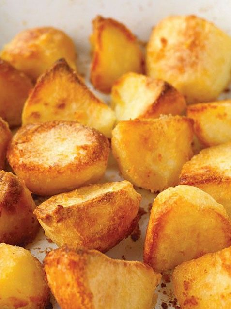 ... homes and gardens, Crispy roast potatoes and Quick peach cobbler