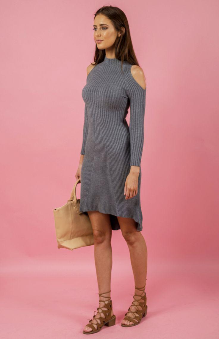 Cold shoulder knit dress (SSKN16)