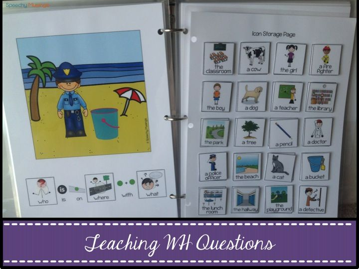 Speechy Musings: How I teach WH questions using my WH Questions Interactive Book, free visuals, and Story Cubes!