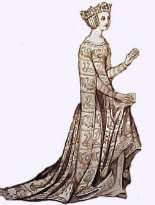 "Joan of Kent, first Princess of Wales (1328-1385) was the wife of Edward the Black Prince. Their marriage was a love match; the Plantagenet sons of Edward III had a tendency to defy convention & follow their heart. While Edward & Joan never became King & Queen of England, their surviving son became Richard II. Edward treated his wife affectionately in public & in private; his letter to her seven years after their wedding began, ""My dearest and truest sweetheart and beloved companion."""
