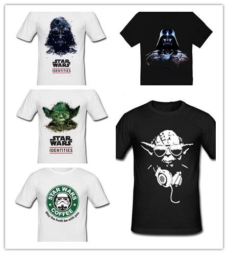 star wars darth vader male 100% cotton short-sleeve T-shirt 2014 Hot band Products $14.5 Free Shipping #men #men's #wear #style #aliexpress