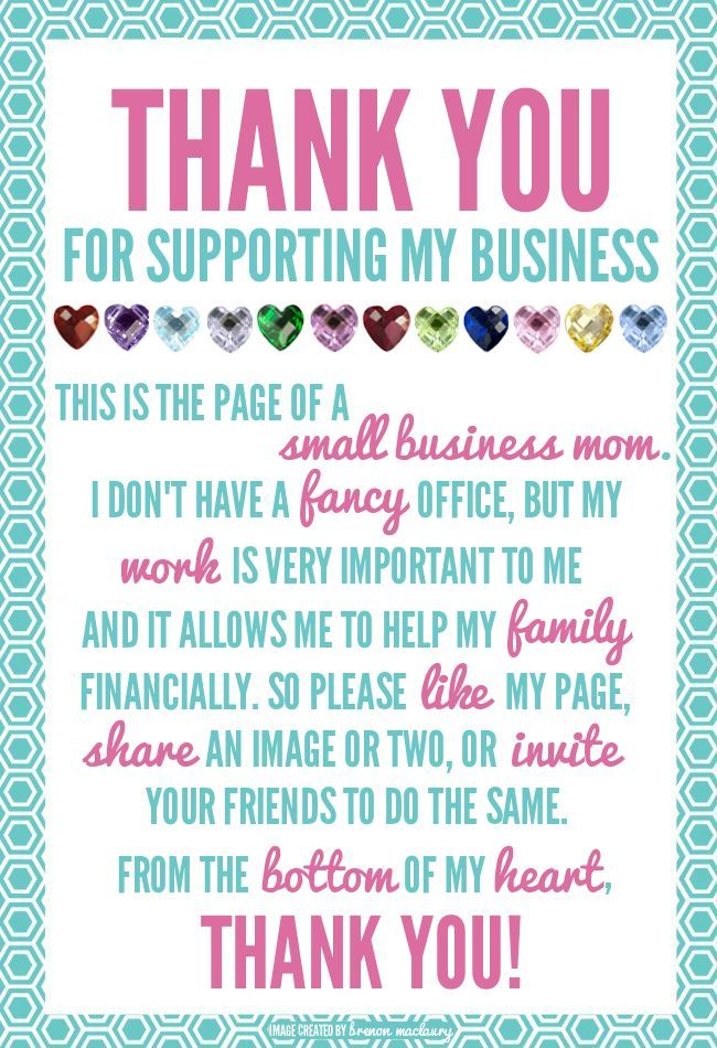 Thank you to everyone who supports me in my business!