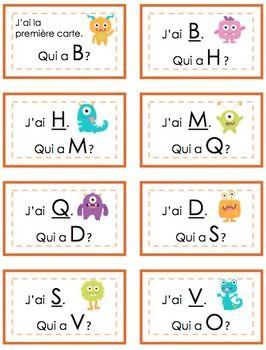 $ J'ai, Qui A. L'alphabet! French. I Have, Who Has. Alphabet