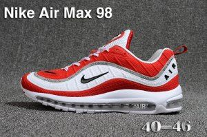 reputable site 8bc72 131f1 Mens Nike Air Max 98 QS KPU White Red Black Grey 640744 069 Athletic  Sneakers