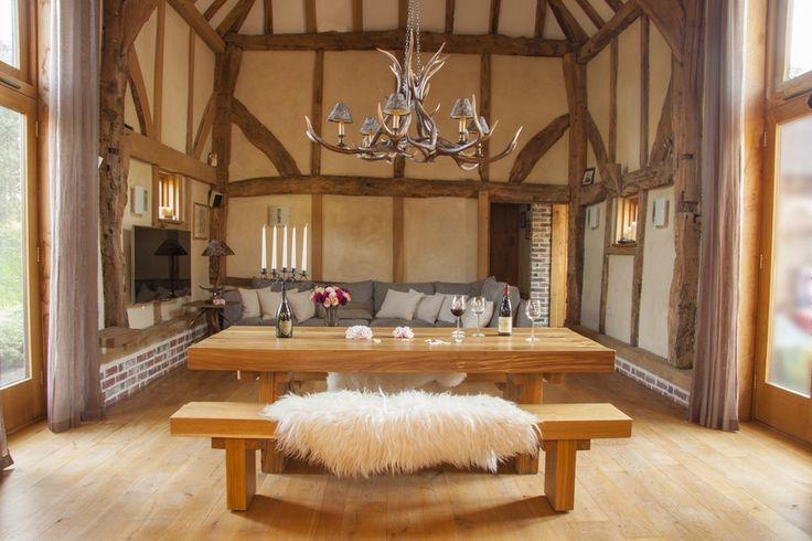 Dining Tables - Oakmasters - Solid Oak Dining Furniture - Antler Chandelier - Oakmasters Oak Furniture