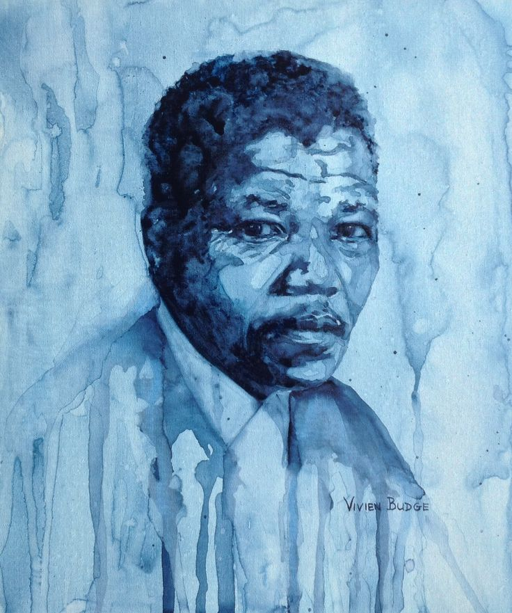 """Young Nelson Mandela"" #NelsonMandela #Madiba #watercolourpainting #watercolourcanvas #portrait"