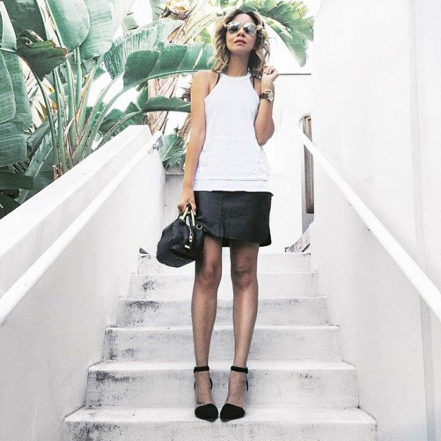 5 Chic Black-and-White Outfits to Copy Now via @WhoWhatWear