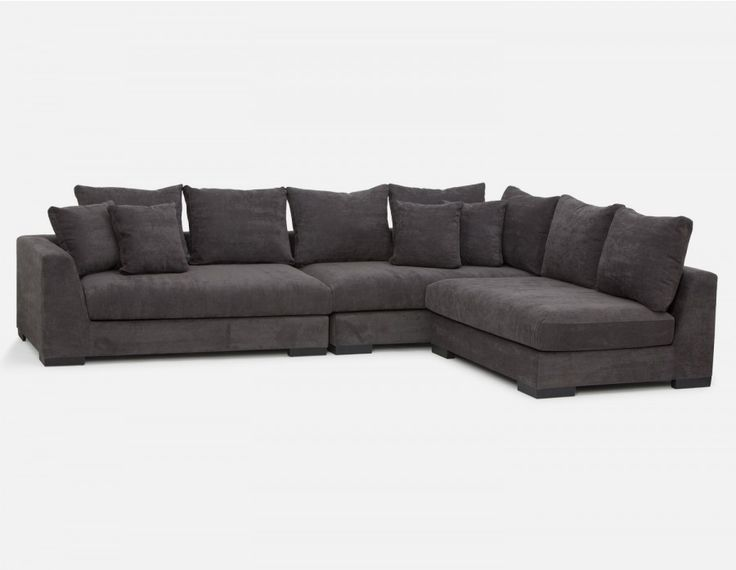 COOPER - Canapé d'angle modulaire - Gris