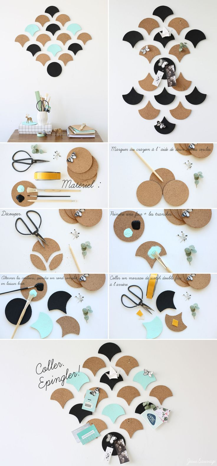 DIY Cork Memo Board & Decoration Tutorial