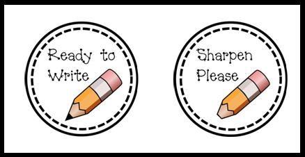 Pencil buckets- no sharpening during class THANK GOD