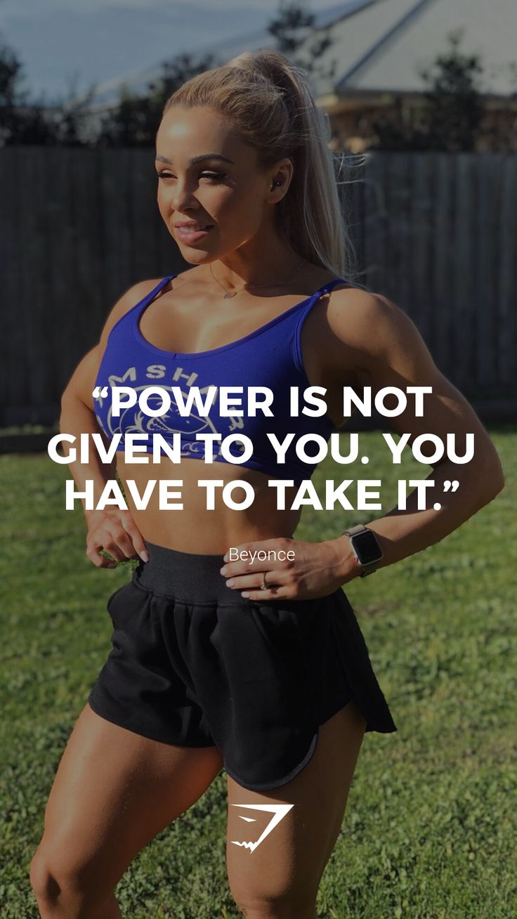 """""""Power is not given to you. You have to take it."""" – Beyonce. #Gymshark #Quotes #…"""