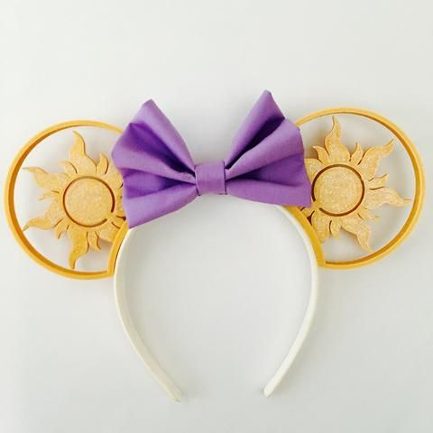 Tangled Sun Mouse Ears with Custom Bow
