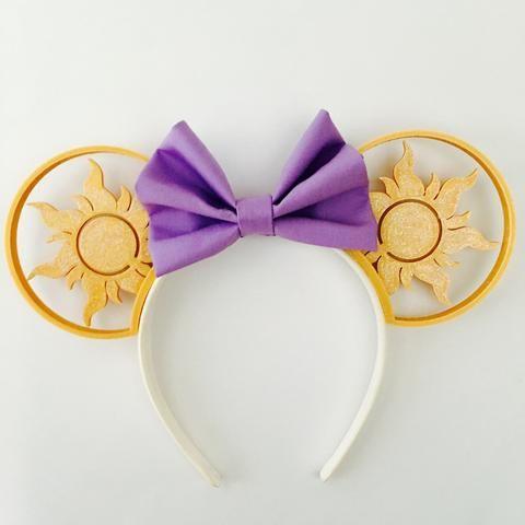 Tangled Sun Mouse Ears with Custom Bow