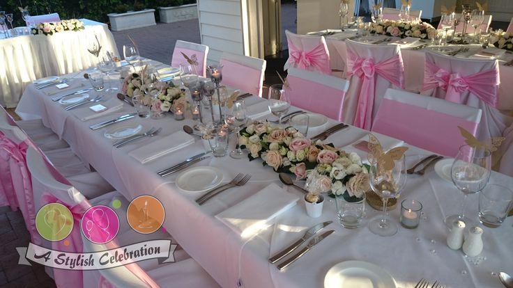 Vintage flowers and silver stemmed tea light holders line the centre of the tables. #roses #vintage #freshflowers #wedding #love #pink #beautiful #awesome #gorgeous #astylishcelebration www.astylishcelebration.com.au