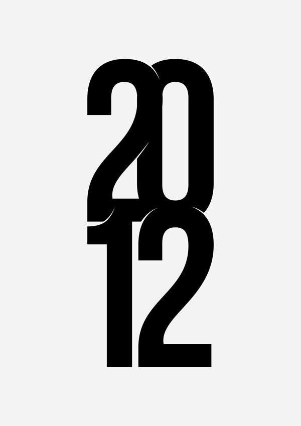 Typographyc Calendar by Krisztian Bajusz, via Behance