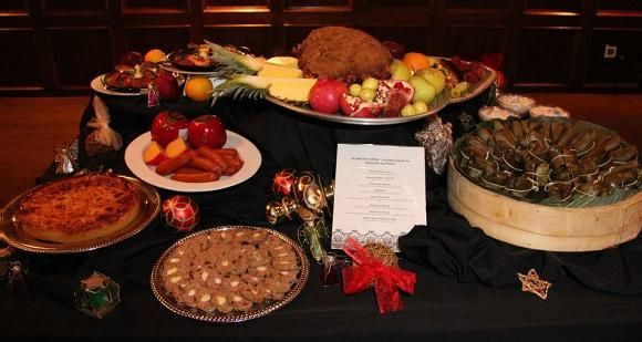 """Noche Buena, meaning """"good night,"""" is a traditional meal served after Christmas Eve mass. It is celebrated in Latin countries and in the Philippines, as the Spanish colonized the country for many centuries in turn bringing with them traditions from Spain."""
