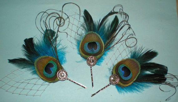 Cute hair accessories.: Peacock Feathers, Peacocks, Peacock Hair, Bridesmaid, Wedding Hairs, Cute Hair, Hair Bobby S, Feathers Hair, Wedding Hair Accessories