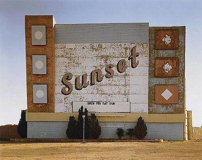Stephen Shore,  'Sunset Drive-In, Amarillo, Texas, 1974'